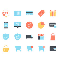 shopping silhouette icons set pictograms vector image