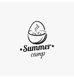 Summer camp badge vector