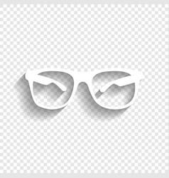 Sunglasses sign white icon vector