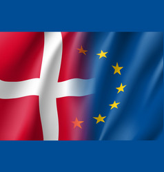 Symbol denmark is eu member vector