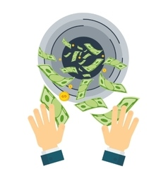waste of money hand vector image