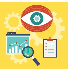 Web analytics information vector