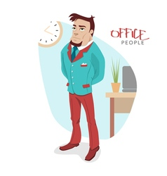 with attractive business man vector image