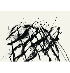 Splatter black ink construction background vector