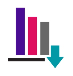 Color bar graph icon vector