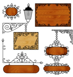A set of forged boards for ads vector