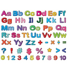 Alphabets and numbers vector image