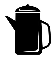 Metal kettle icon simple style vector