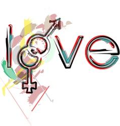 Love symbols vector image