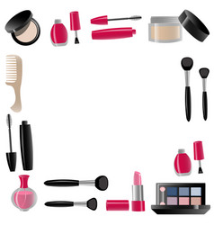 Cosmetics isolated vector