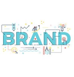 Brand word lettering vector