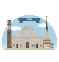 Turin vector image