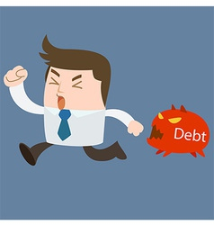Run away debt vector