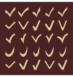 Set of fine different check marks vector