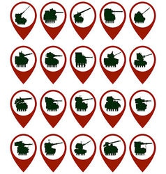 Badges with armored vehicles 1 vector