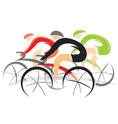 Cyclists competition vector