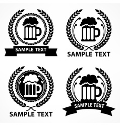 Stylized mug of beer wreath vector