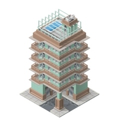 Isometric skyscaper building vector