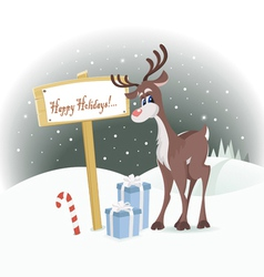 happy holidays vector image