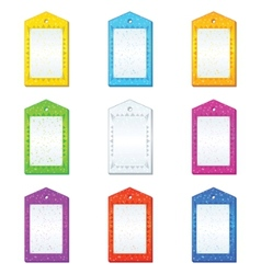 Color tags set vector