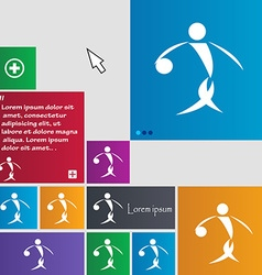 Summer sports basketball icon sign buttons modern vector