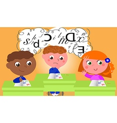 dyslexia vector image