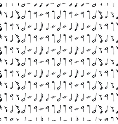 Seamless pattern with music notes vector