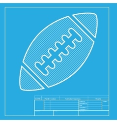 American simple football ball white section of vector