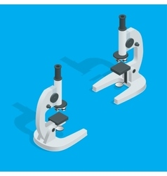 Microscope isolated on white science laboratory vector