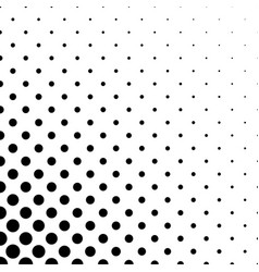 Abstract black and white circle pattern vector