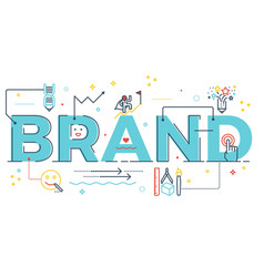 brand word lettering vector image
