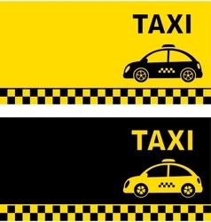 Business card and retro taxi car vector