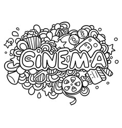 Cinema doodle vector