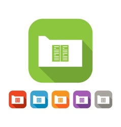 Color set of flat folder with document or book vector