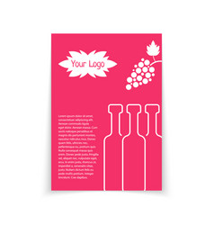 colored brochure for wine shop vector image vector image