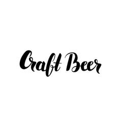 Craft beer lettering vector