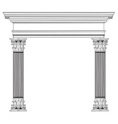 Greek column and arch vector