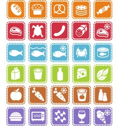 grocery icons vector image