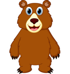 happy bear cartoon vector image vector image