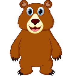 happy bear cartoon vector image