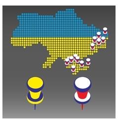 Infographics war in ukraine vector