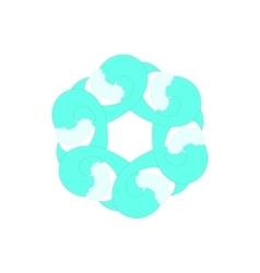 Light sky blue abstract circle icon cartoon style vector