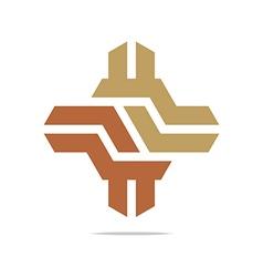 Logo design hexagon zigzag icon symbol vector