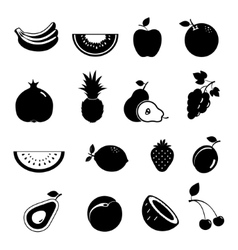 Modern fruit icon set vector