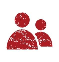 New red grunge leader logo vector
