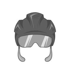 Pilot helmet icon black monochrome style vector