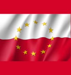 poland national flag with a star circle of eu vector image