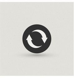 reload sync icon vector image