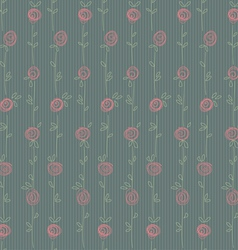 Roses seamless green vector image vector image