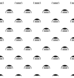 Round barn pattern simple style vector